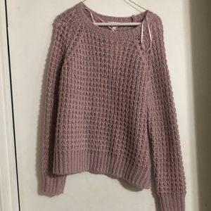 Pink/lavender knit sweater